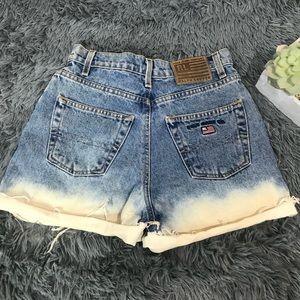 polo jeans company ralph lauren ombre denim shorts